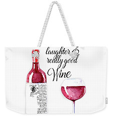 Weekender Tote Bag featuring the digital art Red Wine by Colleen Taylor