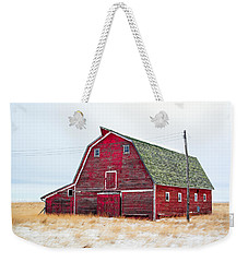 Red Winter Barn Weekender Tote Bag