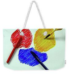 Red Yellow Blue Weekender Tote Bag