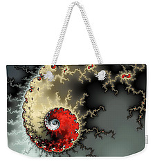 Red Yellow Grey And Black - Amazing Mandelbrot Fractal Weekender Tote Bag by Matthias Hauser