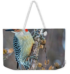 Weekender Tote Bag featuring the photograph Redbellied Woodpecker by Skip Tribby