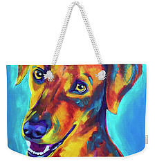 Redbone Coonhound - Yellow Weekender Tote Bag