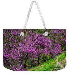 Redbud And Path Weekender Tote Bag