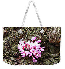 Redbud Flowers 1  Weekender Tote Bag by Sarah Loft