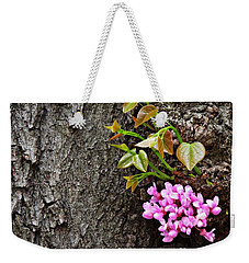 Redbud Flowers 2 Weekender Tote Bag by Sarah Loft