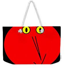 Weekender Tote Bag featuring the digital art Reddddyyy by Cletis Stump