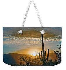 Weekender Tote Bag featuring the photograph Reddington Ridge Sunrise Remix by Dan McManus