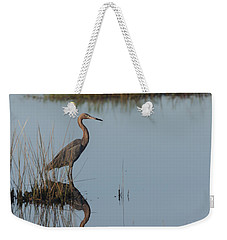 Reddish Egret And Reflection In The Morning Light Weekender Tote Bag