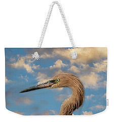 Weekender Tote Bag featuring the photograph Reddish Egret by Kim Hojnacki
