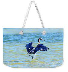 Reddish Egret On The Hunt Weekender Tote Bag
