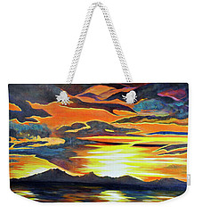 Weekender Tote Bag featuring the painting Redemption by Dottie Branchreeves