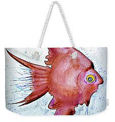 Weekender Tote Bag featuring the mixed media Redfish by Walt Foegelle