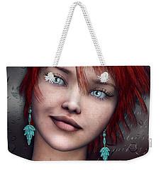 Redhead Weekender Tote Bag by Jutta Maria Pusl