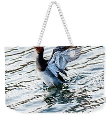 Redhead With Wings Outstretched Behind Him Weekender Tote Bag
