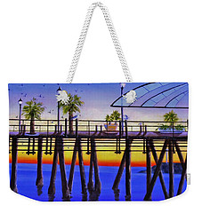 Redondo Beach Pier Weekender Tote Bag by Jamie Frier