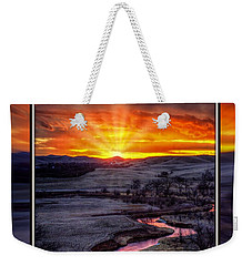 Redwater River Sunrise Weekender Tote Bag