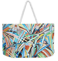 Reed Abstraction Weekender Tote Bag by Esther Newman-Cohen
