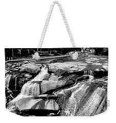 Weekender Tote Bag featuring the photograph Reedy River by Corinne Rhode