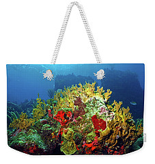 Reef Scene With Divers Bubbles Weekender Tote Bag