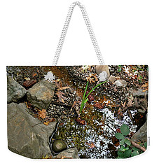 Weekender Tote Bag featuring the photograph Refections Of A Forest Stream by Michele Myers