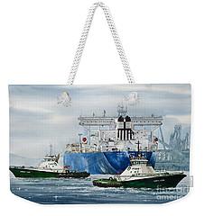 Refinery Tanker Escort Weekender Tote Bag