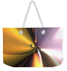 Weekender Tote Bag featuring the digital art Reflect by Darren Cannell