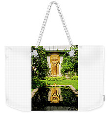 Weekender Tote Bag featuring the photograph Reflecting Art by Greg Fortier