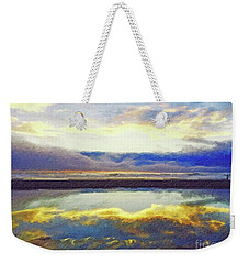 Reflecting At The Beach Weekender Tote Bag by Joseph J Stevens