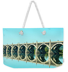 Reflecting Bridge Weekender Tote Bag