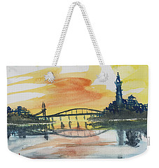 Reflecting Bridge Weekender Tote Bag