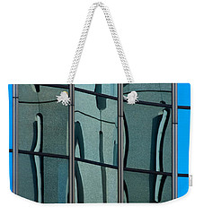 Weekender Tote Bag featuring the photograph Reflecting Eagle 1 by Werner Padarin