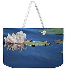 Weekender Tote Bag featuring the photograph Reflecting In Blue Water by Amee Cave