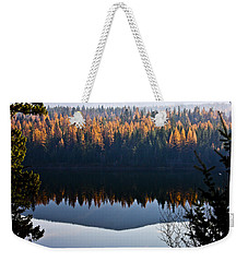 Reflecting On Autumn Weekender Tote Bag