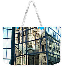 Reflecting On Religion Weekender Tote Bag by Greg Fortier