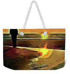 Reflecting On The Day Weekender Tote Bag by Trish Tritz