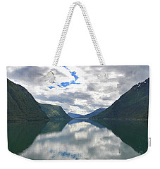 Reflecting Skjolden. Weekender Tote Bag