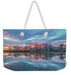 Reflection At Sunrise Weekender Tote Bag by Marc Crumpler