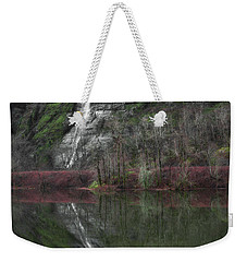 Reflection Of A Waterfall Weekender Tote Bag