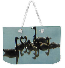 Reflection Of Geese Weekender Tote Bag