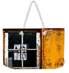 Weekender Tote Bag featuring the photograph Reflection Of Light In The Midst Of Decay by Lita Kelley