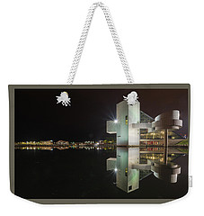 Reflection Of Rock And Roll In Cleveland Weekender Tote Bag