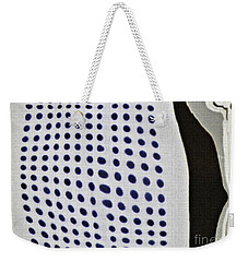 Weekender Tote Bag featuring the photograph Reflection On 42nd Street 1 Negative by Sarah Loft