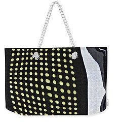 Weekender Tote Bag featuring the photograph Reflection On 42nd Street 1 by Sarah Loft