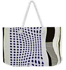 Weekender Tote Bag featuring the photograph Reflection On 42nd Street 2 Negative by Sarah Loft