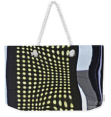 Weekender Tote Bag featuring the photograph Reflection On 42nd Street 2 by Sarah Loft
