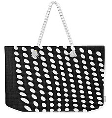 Weekender Tote Bag featuring the photograph Reflection On 42nd Street 3 Grayscale by Sarah Loft