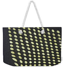 Weekender Tote Bag featuring the photograph Reflection On 42nd Street 3 by Sarah Loft