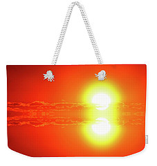 Weekender Tote Bag featuring the photograph Reflection On A Sunrise Two  by Lyle Crump