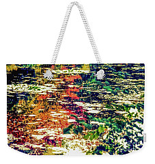 Weekender Tote Bag featuring the photograph Reflection On Oscar - Claude Monet's  Garden Pond  by D Davila