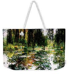 Reflection On Oscar - Claude Monet's Garden Pond Weekender Tote Bag